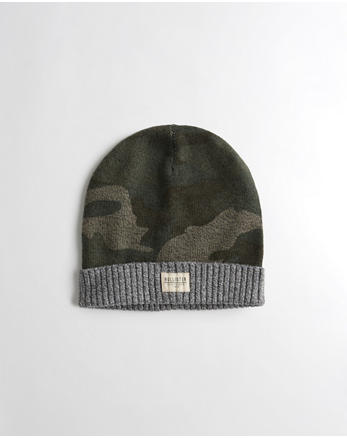 hol Patterned Knit Beanie