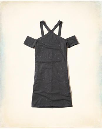 hol Shine Cold Shoulder Bodycon Dress