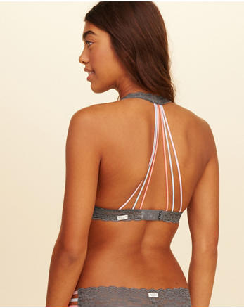hol Strappy Halter Bralette With Removable Pads