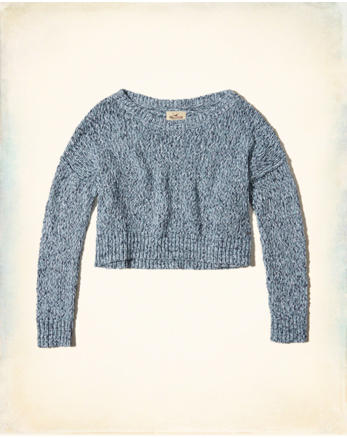 hol Slouchy Crop Sweater