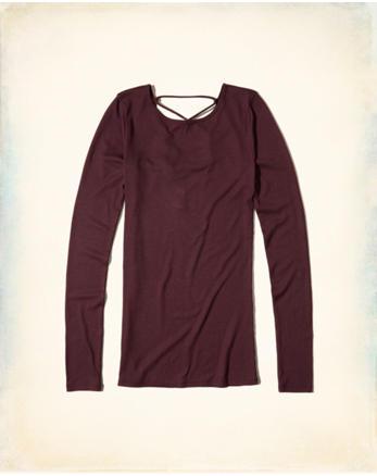 hol Strappy Back Slim T-Shirt