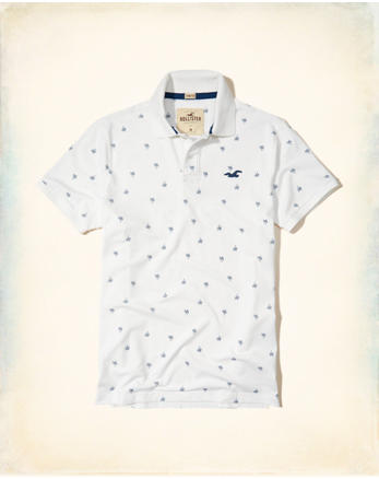 hol Patterned Jersey Polo