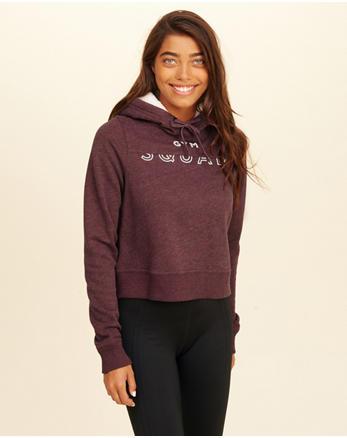 hol Logo Crop Sherpa-Lined Hoodie