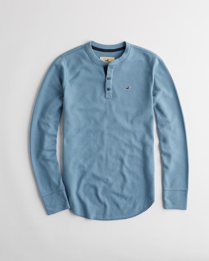 Guys t shirts henleys clearance hollister co thermal henley t shirt buycottarizona