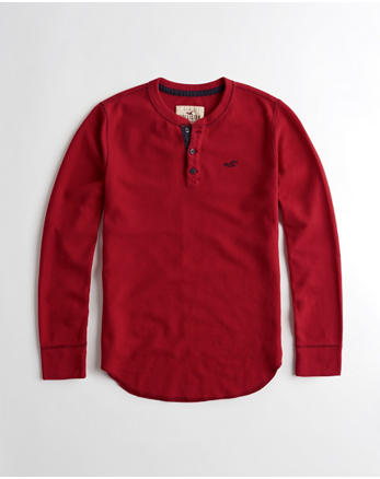 hol Waffle Henley T-Shirt