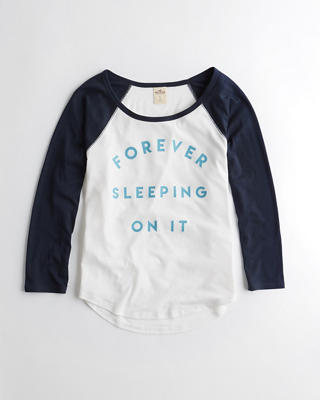 Raglan Graphic Sleep Tee