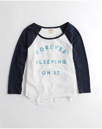 hol Raglan Graphic Sleep Tee
