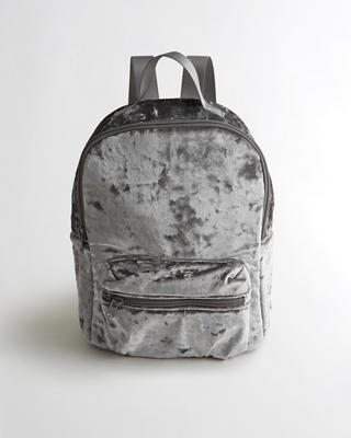 Crushed Velvet Mini Backpack
