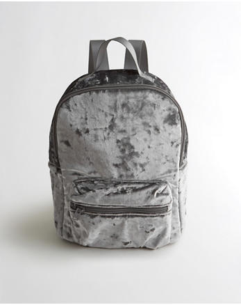 hol Crushed Velvet Mini Backpack