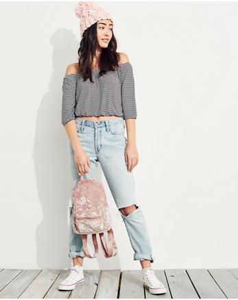 hol Crushed Velvet Mini Backpack