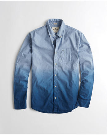 hol Stretch Dip-Dye Poplin Shirt