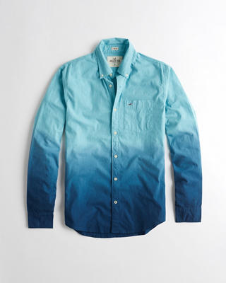Stretch Dip-Dye Poplin Shirt