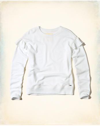 hol Ruffle Crewneck Sweatshirt
