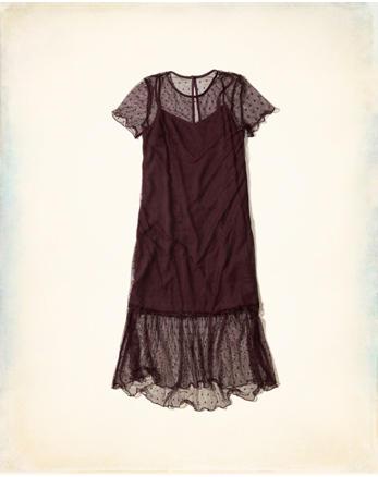 hol Ruffle Mesh Midi Dress