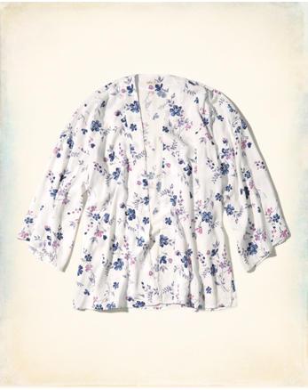 hol Floral Woven Kimono