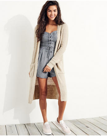 hol Textured Duster Cardigan