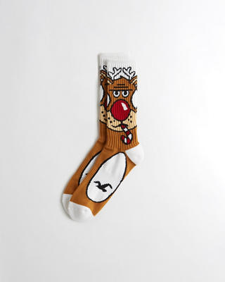 Holiday Graphic Crew Socks