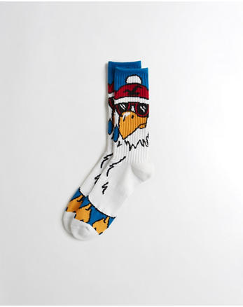 hol Holiday Graphic Crew Socks