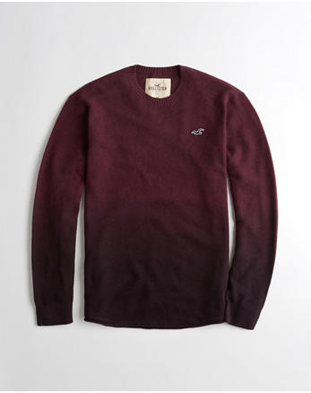 hol Dip-Dyed Textured Curved Hem Sweater