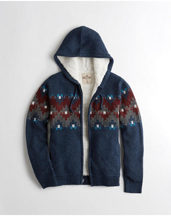 hol Sherpa-Lined Hooded Sweater