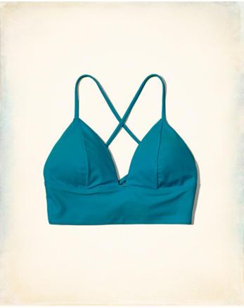 hol Longline Triangle Bikini Top