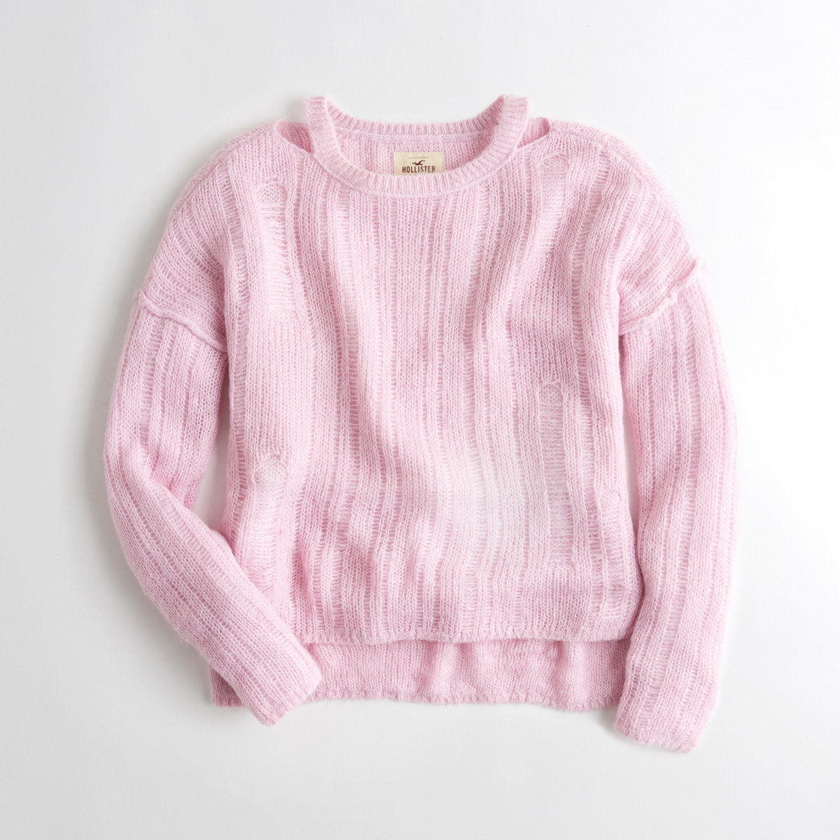Distressed Oversized Crewneck Sweater