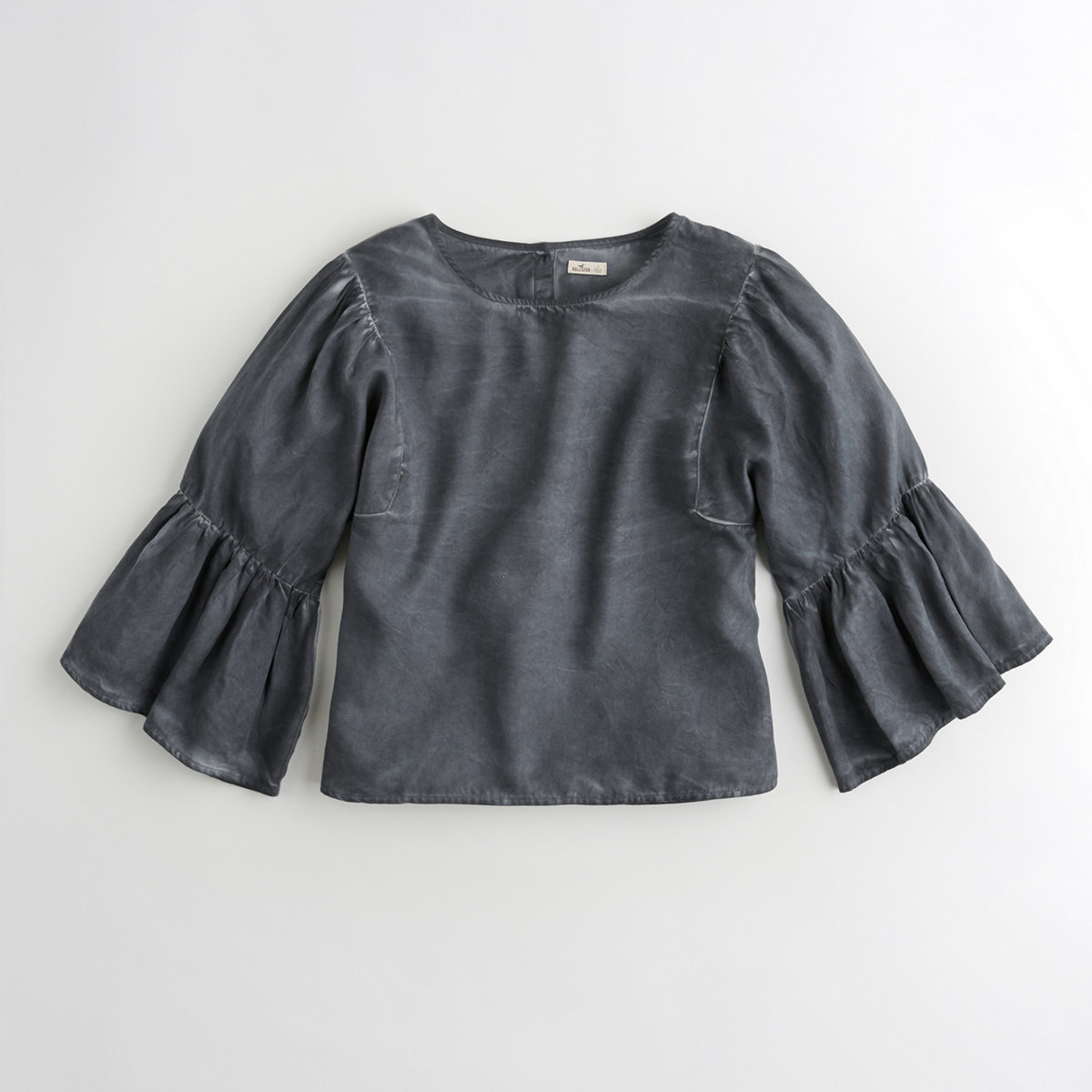 Oversized Ruffle-Sleeve Top