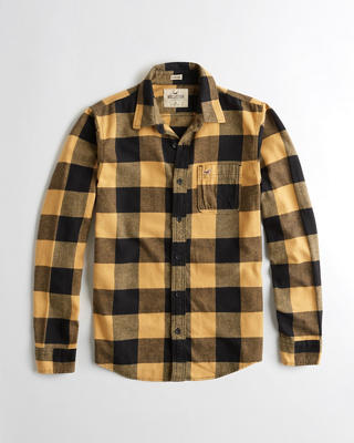 Stretch Plaid Flannel Shirt