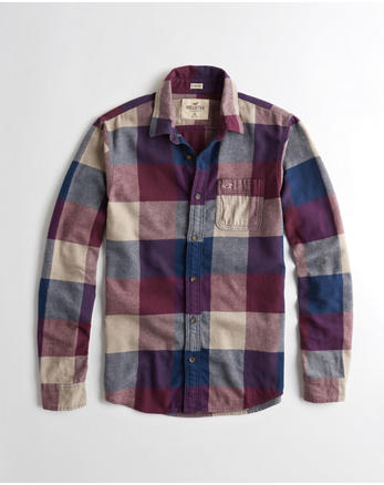 hol Stretch Plaid Flannel Shirt