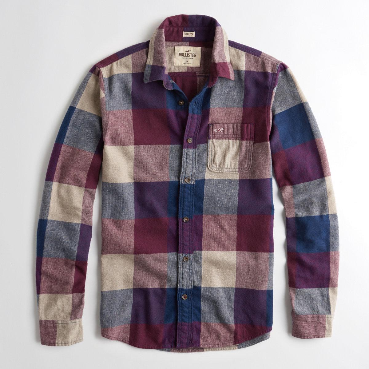 Stretch Plaid Flannel Shirt