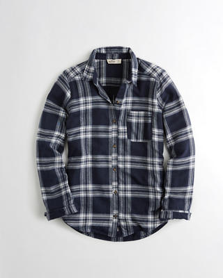 Plaid Oversized Flannel Shirt