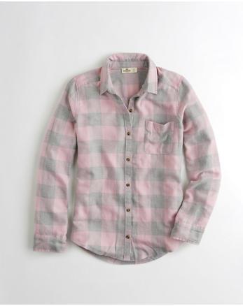 hol Plaid Oversized Flannel Shirt