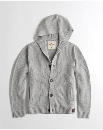 hol Hooded Shawl Cardigan