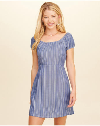 hol Cap-Sleeve A-Line Dress