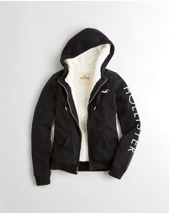 hol Sherpa-Lined Graphic Hoodie