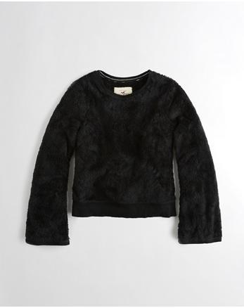 hol Bell-Sleeve Sherpa Crewneck Sweatshirt