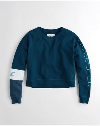 hol Colorblock Boxy Crewneck Sweatshirt