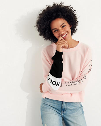 Colorblock Boxy Crewneck Sweatshirt