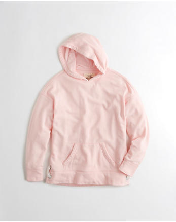 hol Lace-Up Oversized Hoodie