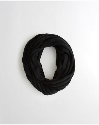 hol Ribbed Knit Infinity Scarf
