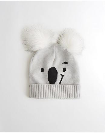 hol Double Pom-Pom Koala Beanie