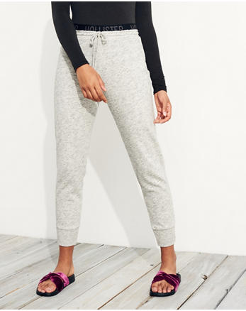 hol Logo Elastic High-Rise Fleece Joggers