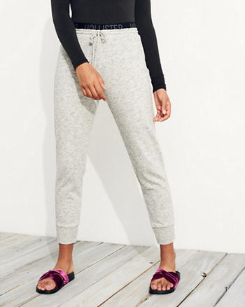 Logo Elastic High-Rise Fleece Joggers