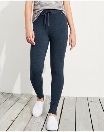 hol Side-Zip High-Rise Fleece Leggings