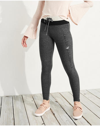 hol Graphic High-Rise Fleece Leggings