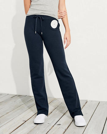 Logo Mid-Rise Straight-Leg Sweatpants