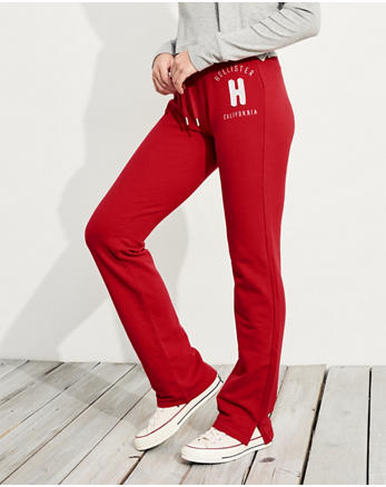 hol Logo Mid-Rise Straight-Leg Sweatpants