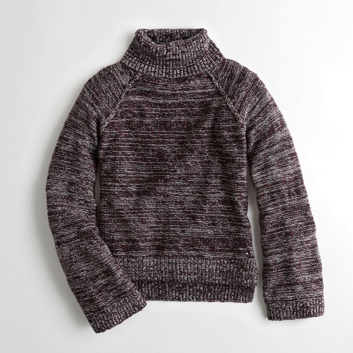 Bell-Sleeve Turtleneck Sweater