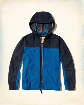 Unlined Stretch Nylon Windbreaker