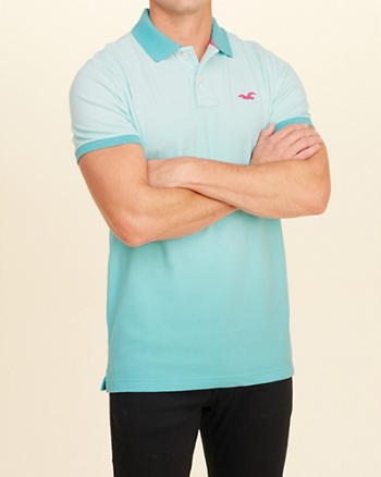 Stretch Pique Ombré Polo